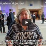 Clara Aguilera muestra su apoyo a la Mujer Rural