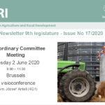 Newsletter de la Comisión de Agricultura . Número 13 del 2 de junio de 2020
